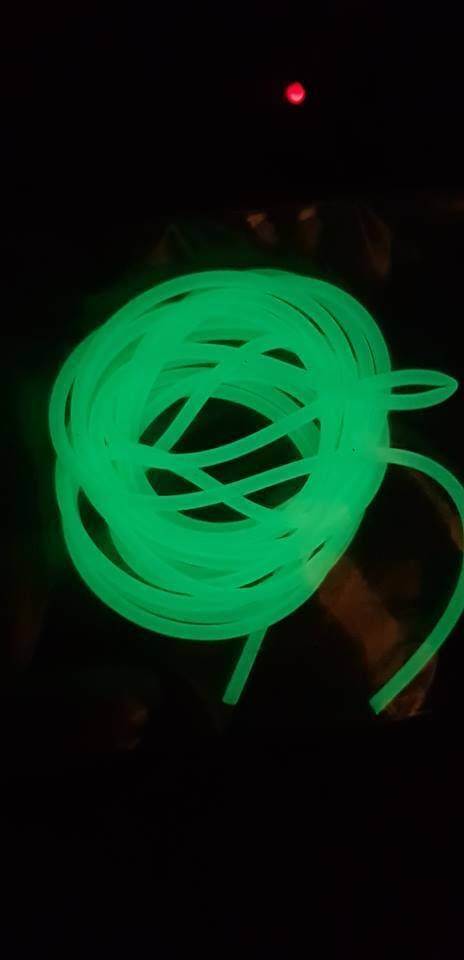 Rovex Luminous Silicone Rig Tubing..2mt...1.5mm diameter